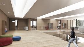 Visualisierung Innenraum Schule